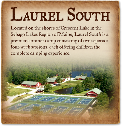 Laurel South is a four-week summer camp in Maine, offering children the complete overnight camp experience.